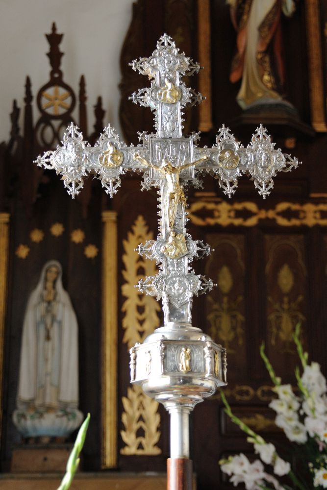 Cruz procesional de Bustares